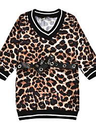 cheap -Kids Girls' Leopard Dress Brown