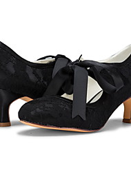 cheap -Women's Wedding Shoes Stiletto Heel Closed Toe Lace Sweet Spring & Summer / Fall & Winter Black / White / Champagne