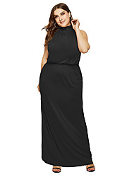 cheap -Women's Party / Evening Daily Basic Elegant Shift Dress - Solid Colored White, Backless Black White Blue M L XL XXL