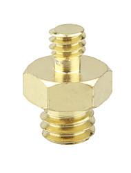 cheap -CAMVATE Double Male Threaded Screw Adapter 1/4 to 3/8 Convert Adaptor Hexagon C1836