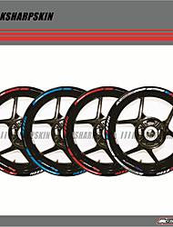Недорогие -12 x толстый край внешнего обода наклейка полоса колеса наклейки подходят для BMW S1000RR 17 ''