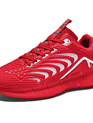 cheap -Men's Spring & Summer Sporty Athletic Trainers / Athletic Shoes Running Shoes Mesh / Elastic Fabric Non-slipping White / Black / Red