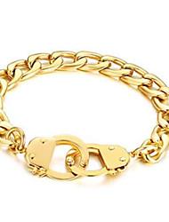 cheap -Men's Women's Chain Bracelet Geometrical Vertical / Gold bar Fashion Steel Bracelet Jewelry Black / Gold / Silver For Gift Daily