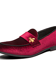 cheap -Men's Dress Shoes Satin Spring & Summer / Fall & Winter Casual / British Loafers & Slip-Ons Breathable Black / Black / Gold / Pink / White / Party & Evening