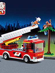 cheap -JIE STAR Toy Car Building Blocks Construction Set Toys Educational Toy Fire Engine Fire Engine Vehicle Unisex Boys' Girls' Toy Gift