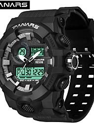 Недорогие -SYNOKE электронные часы Цифровой Спортивные Стильные силиконовый 30 m Защита от влаги Календарь ЖК экран Аналого-цифровые На открытом воздухе Мода - Черный Черный / Золотистый Белый / Золотистый