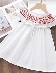 cheap -Kids Girls' Geometric Dress White