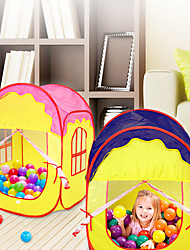 cheap -Play Tent & Tunnel Ball Pool Playhouse Tent Special Designed Foldable Convenient Adorable Parent-Child Interaction Polyester Nonwoven Indoor Outdoor Spring Summer Fall 3 years+ All Pop Up