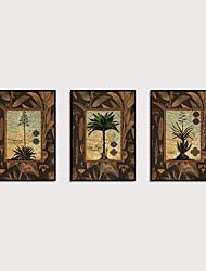 cheap -Framed Art Print Framed Set - Abstract Botanical PS Oil Painting Wall Art