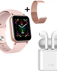 cheap -Indear Q10  Women Smart Bracelet Smartwatch Android iOS Bluetooth Waterproof with TWS Bluetooth Wireless Headphones Music Headphones