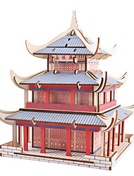 cheap -3D Puzzle Jigsaw Puzzle Model Building Kit Famous buildings DIY Wooden Natural Wood Classic Chinese Style Kid's Unisex Toy Gift