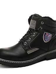 cheap -Men's Comfort Shoes PU Winter Boots Booties / Ankle Boots Black / Brown / Light Brown