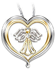 cheap -Women's Pendant Necklace Geometrical Angel Fashion Gold Plated Gold 50 cm Necklace Jewelry 1pc For Gift Daily