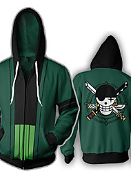 cheap -Inspired by One Piece Cosplay Cosplay Costume Hoodie Polyster Print Printing Hoodie For Men's / Women's