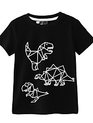 cheap -Kids Boys' Basic Animal Short Sleeve Tee Black