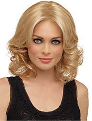 cheap -Synthetic Wig Curly Asymmetrical Wig Long Light Blonde Synthetic Hair 15 inch Women's Best Quality Blonde