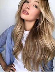 cheap -Synthetic Wig Loose Curl Asymmetrical Wig Long Blonde Synthetic Hair 23 inch Women's Best Quality Middle Part Blonde