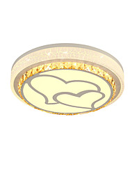 cheap -1-Light Sparkling heart ceiling lamp round ceiling lamp bedroom lamp