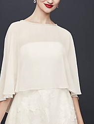 cheap -Half Sleeve Capes Chiffon Wedding Women's Wrap With Beading