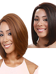 cheap -Synthetic Wig kinky Straight Bob Wig Short Golden Brown Brown Synthetic Hair 11 inch Women's Fashionable Design Best Quality Blonde Brown