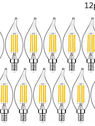 cheap -12pcs Led Bulb E14 220V Vintage Edison Led Lamp 4W C35L E14 Candle Light Retro Filament Light Bulb