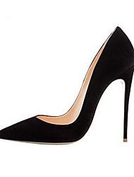 cheap -Women's Heels Stiletto Heel Pointed Toe Suede Winter Black / Dark Brown / Purple