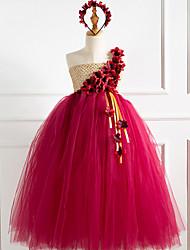 cheap -Kids Little Girls' Dress Color Block Red Cute Dresses