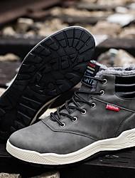 cheap -Men's Comfort Shoes Microfiber Fall & Winter Boots Mid-Calf Boots Black / Brown / Gray