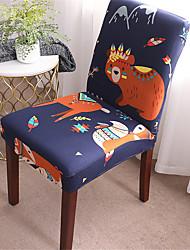abordables -Housse de chaise de bande dessinée pour animaux de compagnie extensible amovible lavable protecteur de chaise de salle à manger housses décor à la maison housse de siège de salle à manger