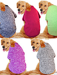 cheap -Dog Cat Vest Simple Stylish Simple Style Winter Dog Clothes Puppy Clothes Dog Outfits White Purple Red Costume for Girl and Boy Dog Cotton Fabric Plush 3XL 4XL 5XL 6XL 7XL 8XL