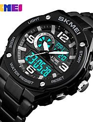 Недорогие -SKMEI электронные часы Цифровой Современный Спортивные силиконовый 30 m Защита от влаги Секундомер Повседневные часы Аналоговый На каждый день Мода - Черный Синий Красный