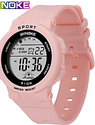 cheap -SYNOKE Digital Watch Digital Sporty Stylish Outdoor Water Resistant / Waterproof Digital White Black Pink / Silicone / Calendar / date / day / LCD / Noctilucent / Large Dial