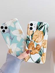 Недорогие -чехол для карты яблока сцены iphone 11 11 про 11 про макс х х сс х р мс макс 8 красочным цветочным узором блестящий материал тпу imd процесс все включено чехол для мобильного телефона