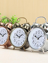 cheap -Alarm Clock Vintage Retro Silent Pointer Clocks Round Number Dual Bell Loud Alarm Clock Bedside Night Light Home Decors