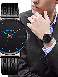 cheap -Men's Dress Watch Quartz Formal Style Modern Style Stainless Steel Black / Silver 30 m Shock Resistant Casual Watch Large Dial Analog - Digital Classic Fashion - Golden Black+Golden Rose Gold Two