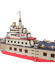 cheap -3D Puzzle Jigsaw Puzzle Model Building Kit Warship Ship DIY High Quality Paper Classic Kid's Unisex Boys' Girls' Toy Gift