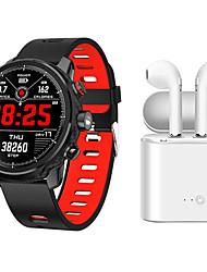 cheap -Indear M9  Women Smart Bracelet Smartwatch Android iOS Bluetooth Waterproof with TWS Bluetooth Wireless Headphones Music Headphones