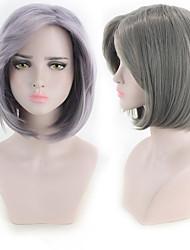 Недорогие -Парики из искусственных волос Естественные прямые Стрижка боб Парик Короткие Серый Фиолетовый Искусственные волосы 11 дюймовый Жен. Лучшее качество Фиолетовый Серый