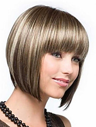 cheap -Synthetic Wig Straight Straight Bob Wig Short Brown Synthetic Hair Women's Highlighted / Balayage Hair Brown StrongBeauty