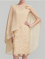 cheap -Short Sleeve Basic Chiffon Wedding Women's Wrap With Ruching / Flower / Solid