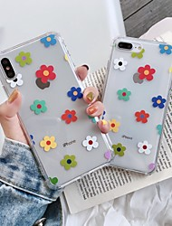 cheap -Case for Apple scene map iPhone 11 X XS XR XS Max 8 Floret pattern high transparent thickened TPU material four corners all-inclusive mobile phone case