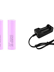cheap -Battery Charger with 2pcs Batteries 4200 mAh 3.7 V Rechargeable Portable Fast Charging UK EU US Plug for ED Flashlight Bike Light Headlamps Outdoor Camping / Hiking Fishing Cycling / Bike