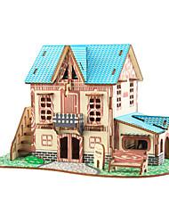 abordables -Puzzles 3D Puzzle Puzzles en bois Bâtiment Célèbre Maison A Faire Soi-Même En bois Bois Naturel Classique Enfant Adulte Unisexe Jouet Cadeau
