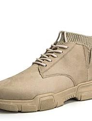 cheap -Men's Combat Boots Suede Winter Boots Mid-Calf Boots Black / Khaki