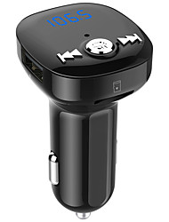 cheap -Car Wireless Bluetooth Headset BC40 Dual USB Charging Bluetooth FM Transmitter MP3 Music Player Car Kit Support Hands-Free Call & TF Card & U Disk