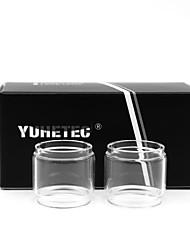 abordables -yuhetec gros tube de verre pour aspire pockex poche aio atomiseur 2 pcs