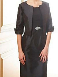 cheap -Half Sleeve Shrugs Satin Wedding Women's Wrap With Ruching / Solid