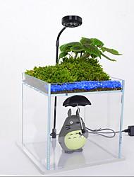 Недорогие -Аквариум Свет Подсветка Светодиодные аквариум Свет 1шт Свет аквариума Белый Стерилизатор Офис Украшение пластик 220-240 V