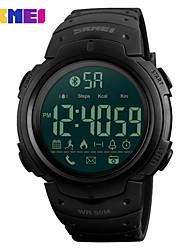 Недорогие -SKMEI Смарт Часы Цифровой Современный Спортивные силиконовый 30 m Защита от влаги ЖК экран Повседневные часы Цифровой На каждый день Мода - Черный Зеленый
