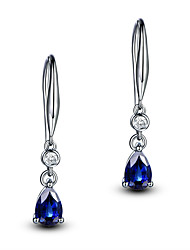 cheap -Women's Aquamarine Earrings Classic Music Notes Stylish Artistic Luxury Trendy Korean Platinum Plated Gold Plated Earrings Jewelry Light Yellow / Purple / Royal Blue For Christmas Gift Daily Work